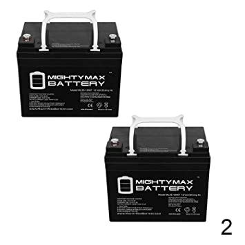 Amazon.com: 12 V 35 Ah batería Int sustituye a Interstate ...