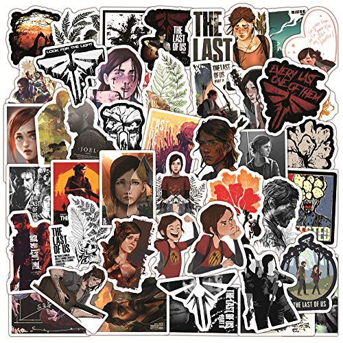 The Last of Us Stickers for Hydroflask,50pcs Game Stickers for boy,Waterproof Vinyl Stickers Perfect for Waterbottle Laptop Phone Car Skateboard