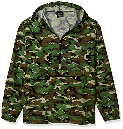 - Charles River Apparel Pack-N-Go Wind & Water-Resistant Pullover (Reg/Ext Sizes), camo Print, S