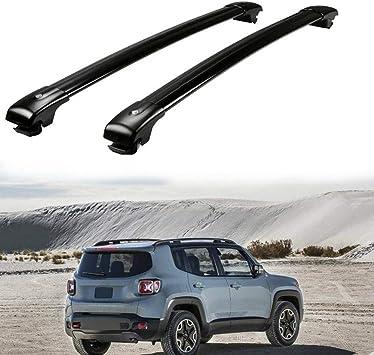 Car Aluminum Roof Rack Cross Bars Cargo Bike Carrier For Jeep Renegade 2014-2018