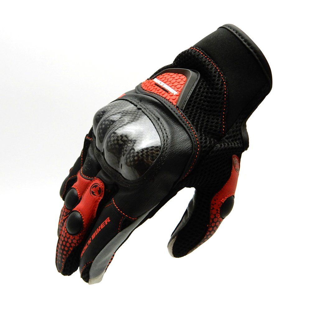 KEMIMOTO Motorbike Protective Racing Gloves Motorcycle Powersports Summer Outdoor Sports Gloves with Touch Screen Knuckle Protection (XL,Red) by KEMIMOTO (Image #2)