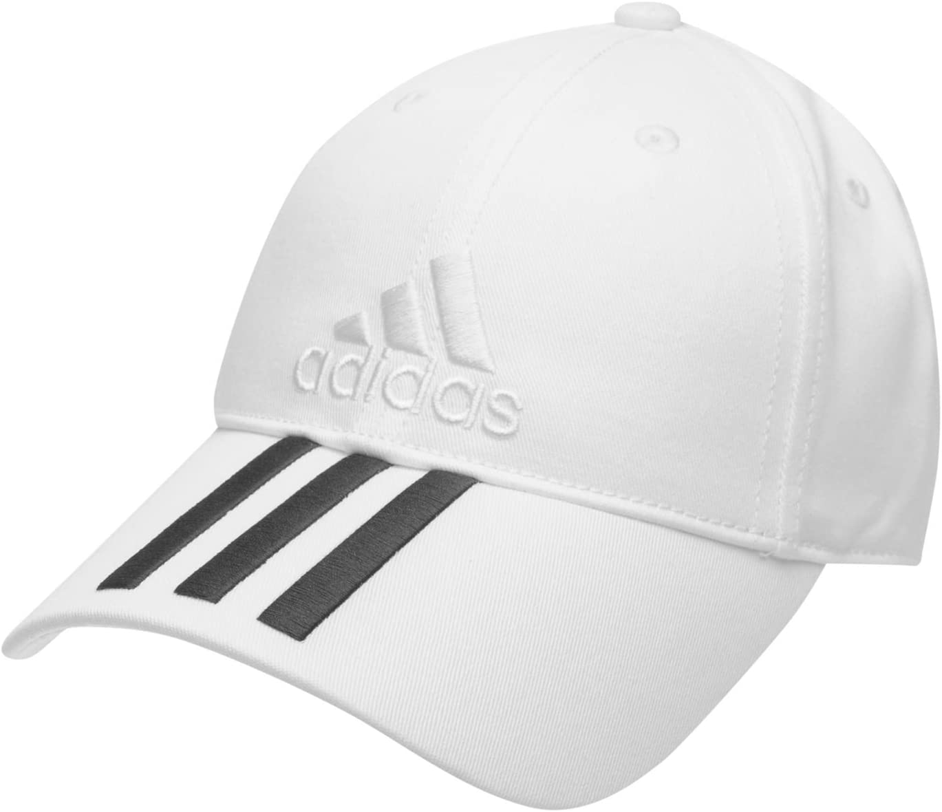 adidas Color Blanco Junior niños Ajustable Iconic 3 Rayas Bordado ...