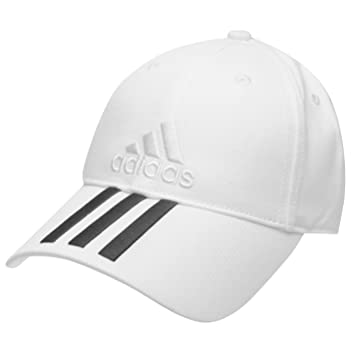 0c10c5a3f1814 adidas White Junior Boys Adjustable Iconic 3 Stripes Embroidered Baseball  Cap Fits Age Six to Twelve