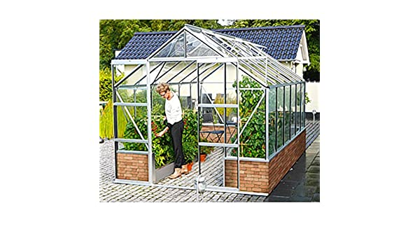 Cassandra 11500 - Invernadero de aluminio para jardín de invierno (11, 5 m²), color negro: Amazon.es: Jardín