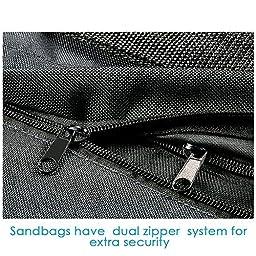 Neewer® Set of 8 Black/Orange Sandbag Photography Studio Video Stage Film Sandbag Saddlebag for Light Stands Boom Arms Tripods