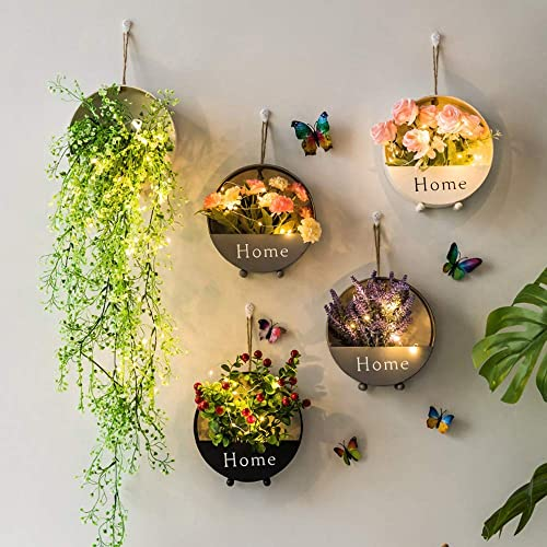 ROSSGESUND Handmade Circular Flower Basket Wall Decor