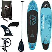 Aqua Marina Vapor SUP Inflatable Stand Up Paddle Board with Paddle, Leash, Magic Back Pack and Double Action Pump