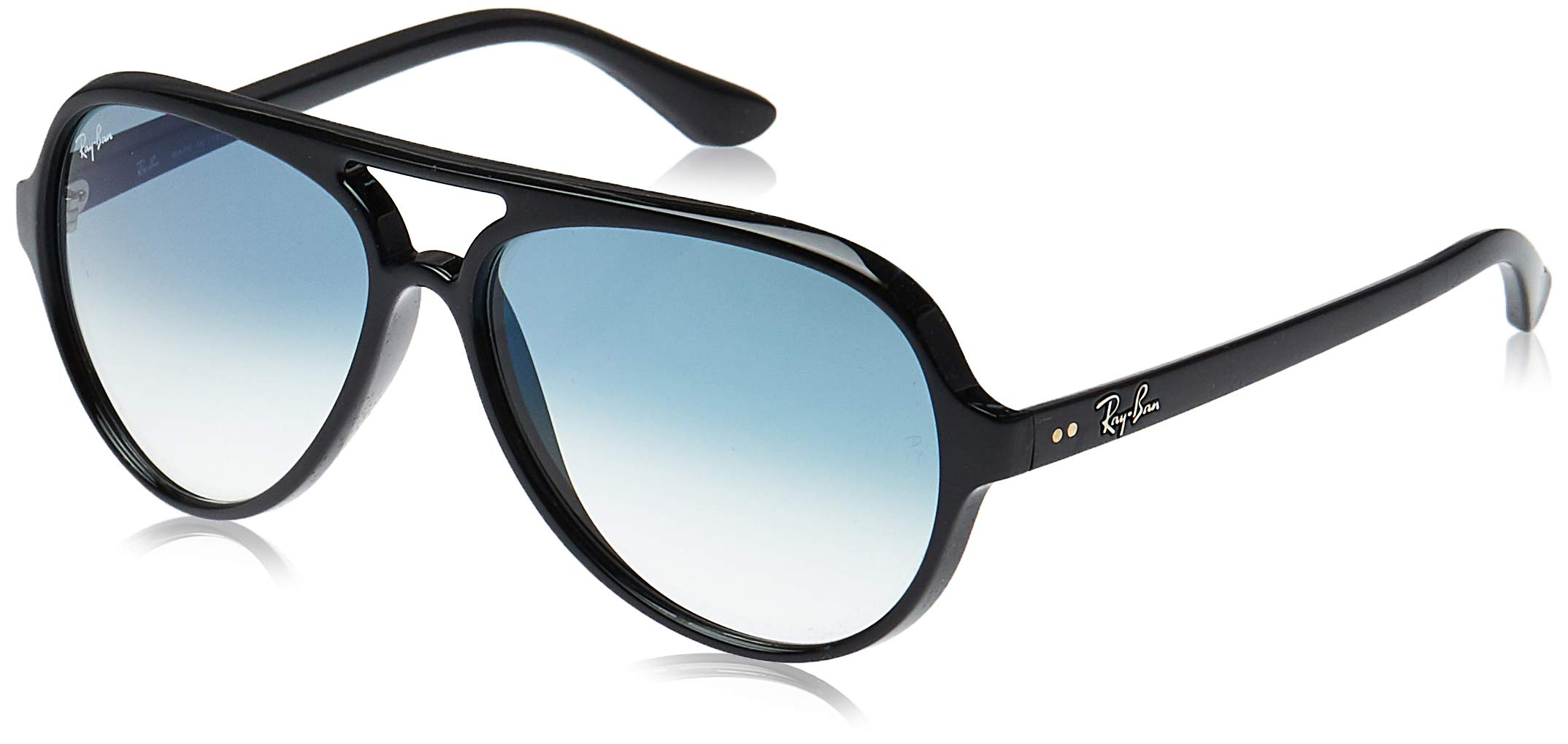 RAY-BAN RB4125 Cats 5000 Aviator Sunglasses, Black/Blue Gradient, 59 mm by RAY-BAN