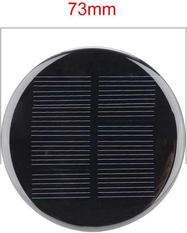 N//A 5Pcs 4V 80mA Poly Mini Module de Panneau de Cellule Solaire Rond DIY pour Jouets L/égers Chargeur 73mm Diam/ètre