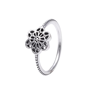 7f33811a0 ... store fit pandora floral daisy lace ring 190992 size 52 0b579 adb53