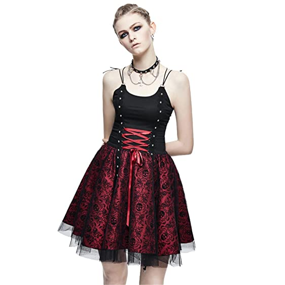 Amazon Steampunk Womens Party Ball Gown Gothic Skull Printed
