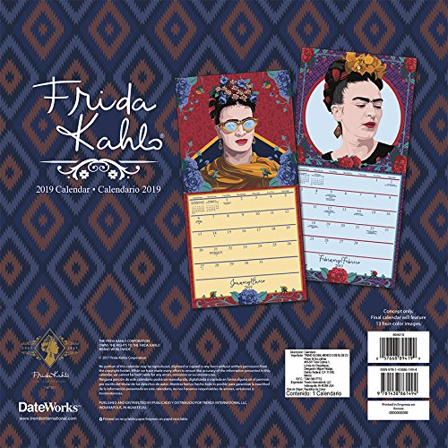 2019 Frida Kahlo Wall Calendar (English and Spanish Edition) by Trends International Calendars