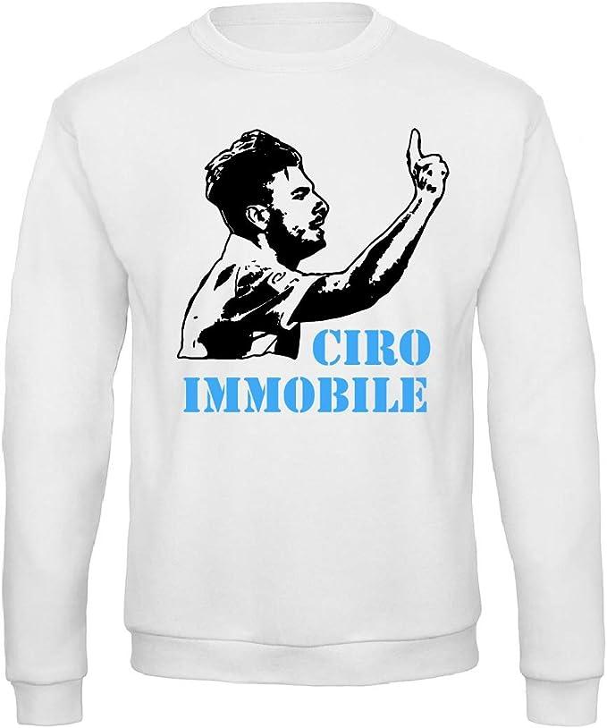 Art T-shirt, Felpa Raglan Ciro Immobile Lazio, Uomo