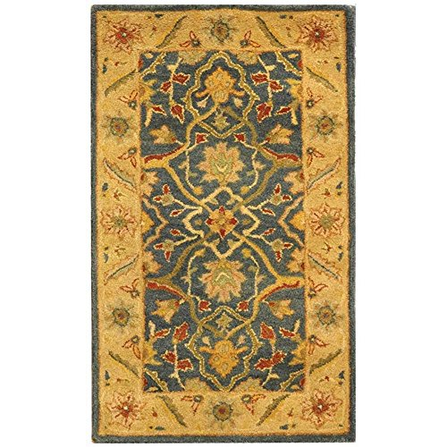 Safavieh Antiquities Collection AT14E Handmade Traditional Oriental Blue Wool Area Rug (2'3