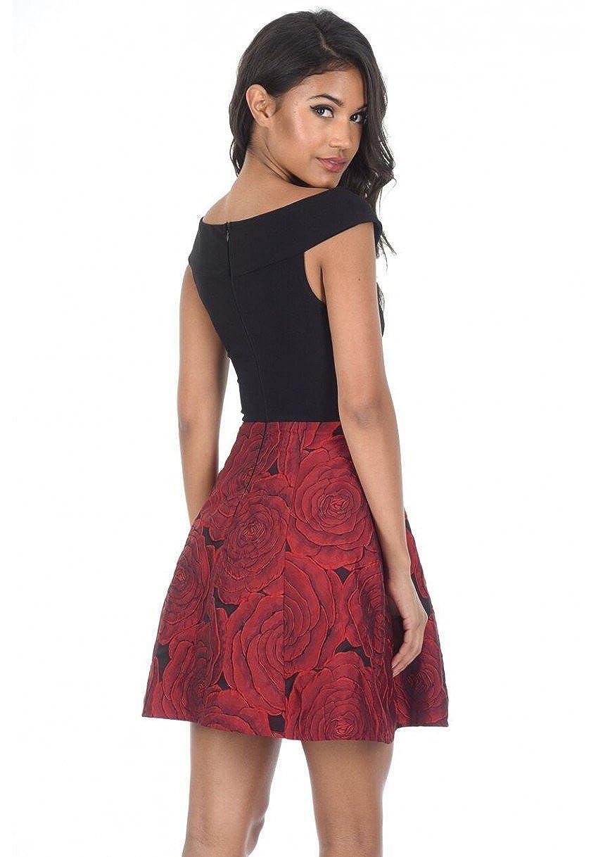 4b6ecb11e3c55 AX Paris Women's Contrast 2 in 1 Floral Dress at Amazon Women's Clothing  store: