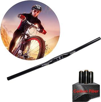 HAMHIN Manillar Bicicleta Alta Resistencia con Fibra Carbono ...