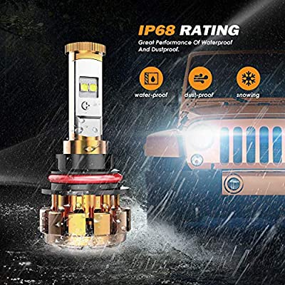 Auxbeam LED Headlights F-16 Series 9004 HB1 LED Headlight Bulbs with 2 Pcs of Headlight Bulbs SMD LED Chips Hi-Lo Beam - 50W 5000lm Low Beam & 50W 5000lm High Beam: Automotive