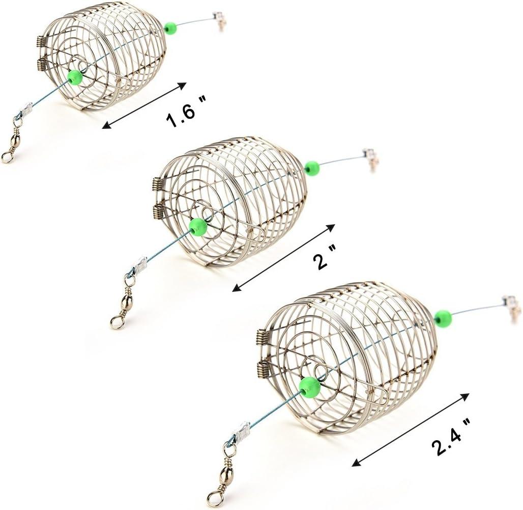 10 Pcs Carp Fishing Bait Feeder Fishing Lure Cage Fishing Bait Holder X5P4