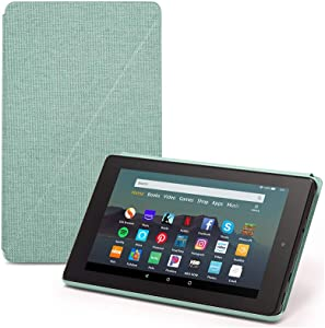 Fire 7 Essentials Bundle including Fire 7 Tablet (Sage, 16GB), Amazon Standing Case (Sage), and Nupro Anti-Glare Screen Protector