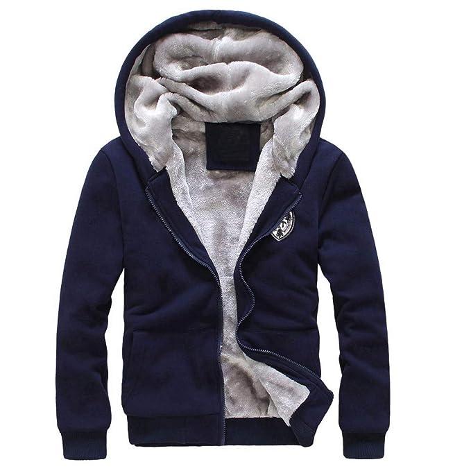 Bestow Chándal para Hombre Cálido Fleece Deporte Sudadera con Capucha con Pantalones Traje de Sudadera Abrigo Chaleco suéter: Amazon.es: Ropa y accesorios