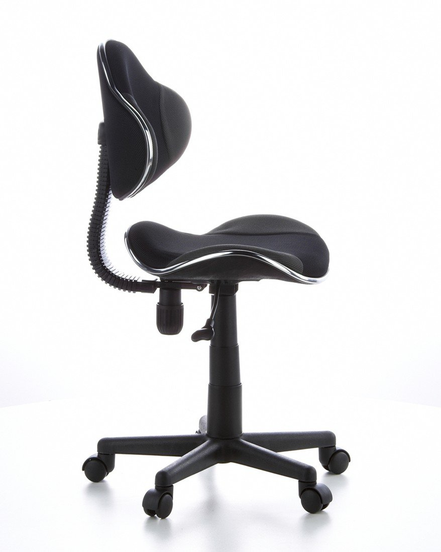 Office Et Kiddy Hjh Grisnoir Chaise Sans Réglable 634120 EnfantJunior Gti 55 2 AccoudoirsHauteur CmDossier Ergonomique 40 De Bureau 54jALq3R