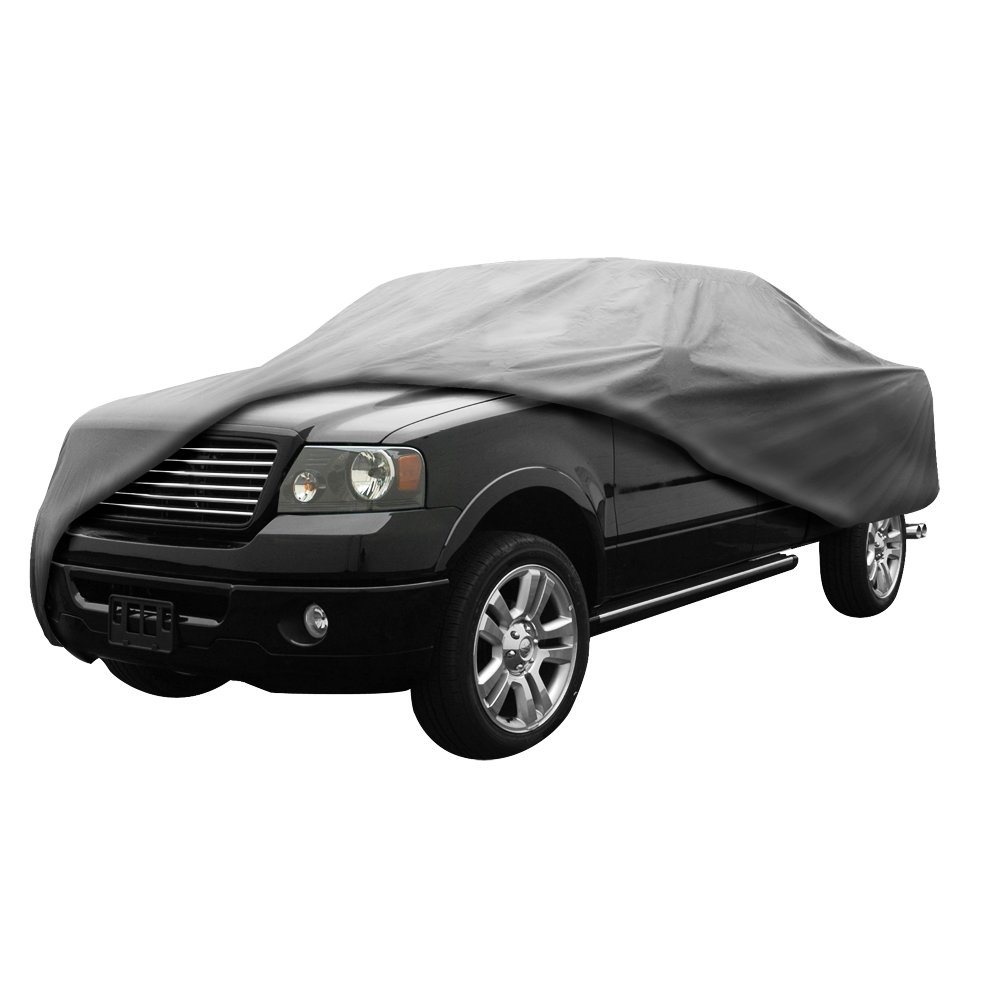 EmpireCovers EMP929 5 Layer Waterproof Truck Cover Fits Full-Size Dually Long Bed w/ Crew Cab - (Gray)