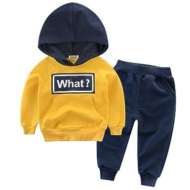 Snyemio Niño Otoño Invierno Ropa Conjuntos Sudaderas + Pantalones Bebé Manga Larga Suéter Capucha Tops: Amazon.es: Ropa y accesorios