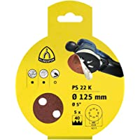 Klingspor 241627 Papel Abrasivo, Sujeción Velcro, PS 22