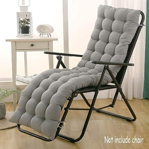 DUCHEN Cojín grueso y largo para tumbona reclinable con respaldo, silla de jardín, colchoneta para banco, para interior o exterior: Amazon.es: Jardín