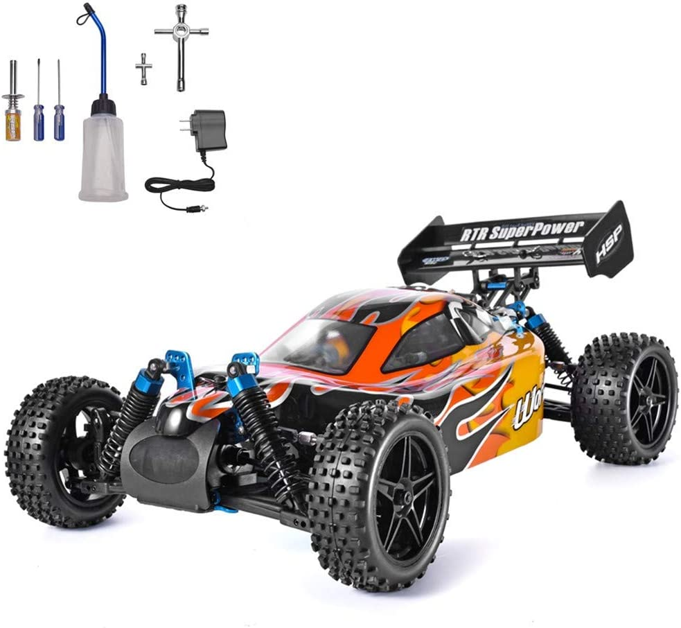 Amazon Com Hsp 1 10 Scale High Speed 65km H 4wd Off Road Rc Car 2 4ghz Remote Control Truck Radio Controlled Off Road Racing Car Monster Truck Rtr Toys Games