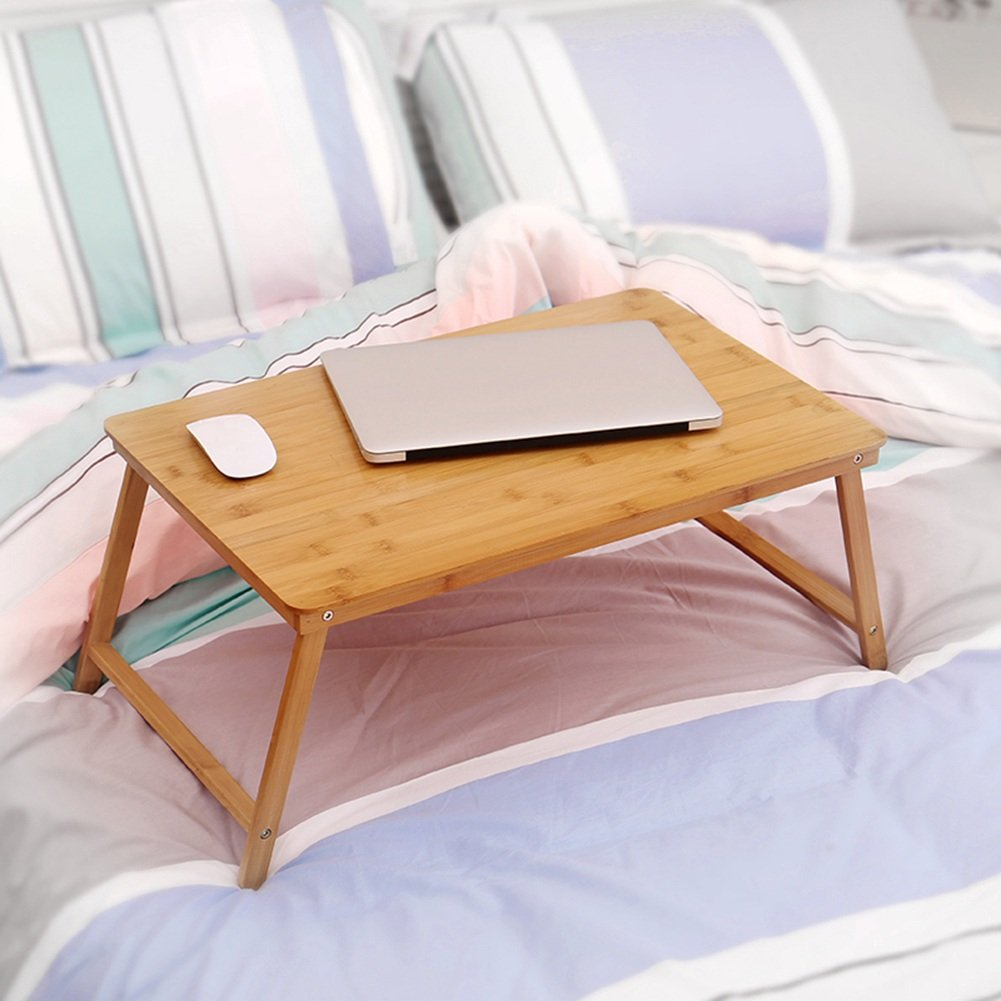 PENGFEI Solid Wood Laptop Stand for Desk Foldable Portable Bed Table College Students Dorm Room Learn Read Solid Wood, 3 Sizes (Color : 70x39x47CM) by PENGFEI-xiaozhuozi (Image #5)