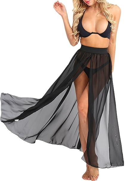 Chiffon maxi skirt cover up