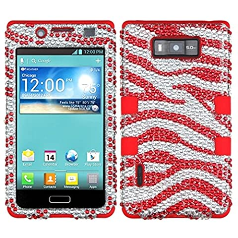 MyBat LG US730/Splendor /Venice /L86c/Optimus Showtime TUFF Hybrid Phone Protector Cover - Retail Packaging - Zebra Skin (Phone Cases For Lg L86c Optimus)