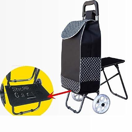 Carrito de la compra de la rueda 2 plegable con, carros de múltiples funciones para