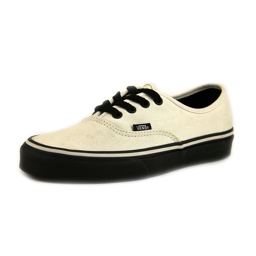 a81a82640ba1 Galleon - Vans Unisex Authentic (Black Sole) True White Skate Shoe 5…