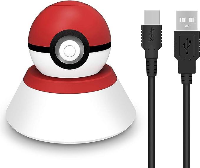 Soporte de Carga Compatible con Nintendo Switch Poke Ball Plus Controller, VOKOO 2 en 1 Cargador y Base para Nintendo Pokémon Lets Go Pikachu Eevee Game Controller – 2.8 pies: Amazon.es: Electrónica