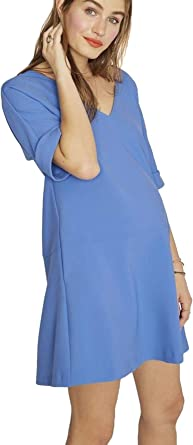 Hatch Maternity Womens The Bethany Dress Peri Winkle Size 1 At Amazon Women S Clothing Store