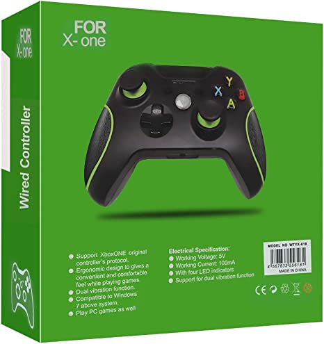 Xbox One Controller, RegeMoudal Xbox One Mando con 2,4m Cable USB ...