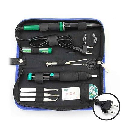 LA101311 11pcs 30W Soldadura eléctrica Kit Herramientas de reparación de soldadura con pinza de soldadura Pinzas