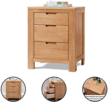 Scandinavian chest of drawers in oak drawer