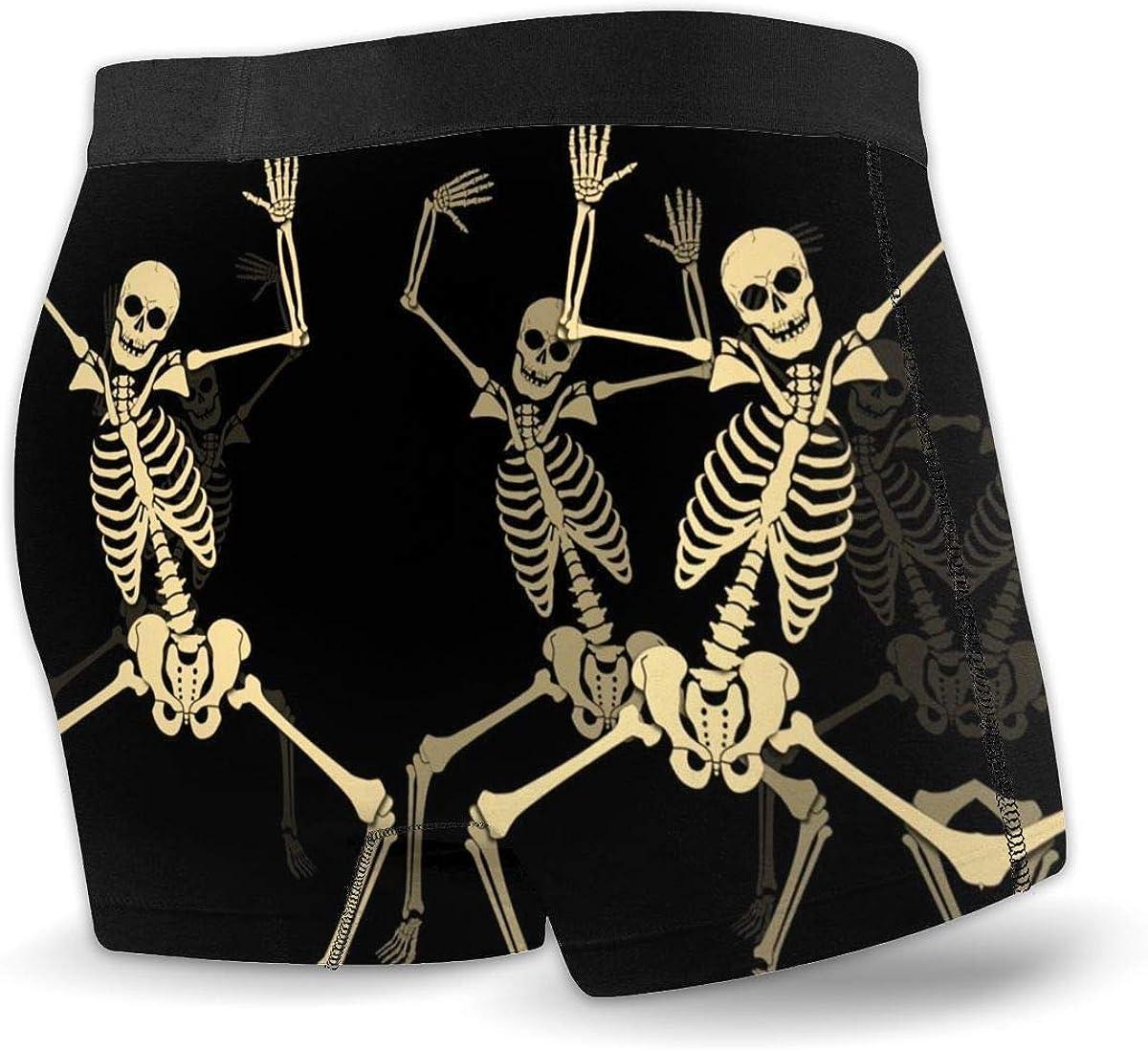 Funny Comfort Soft Underwear//Underpants SyrinXPan Skull Boxer Briefs for Men