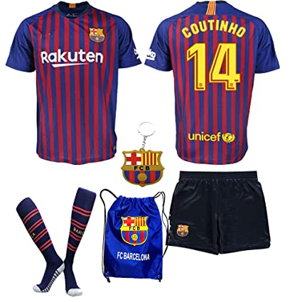 buy online 03d65 35e2c Amazon.com : Barcelona Messi Suarez Coutinho 2018 19 Kid ...