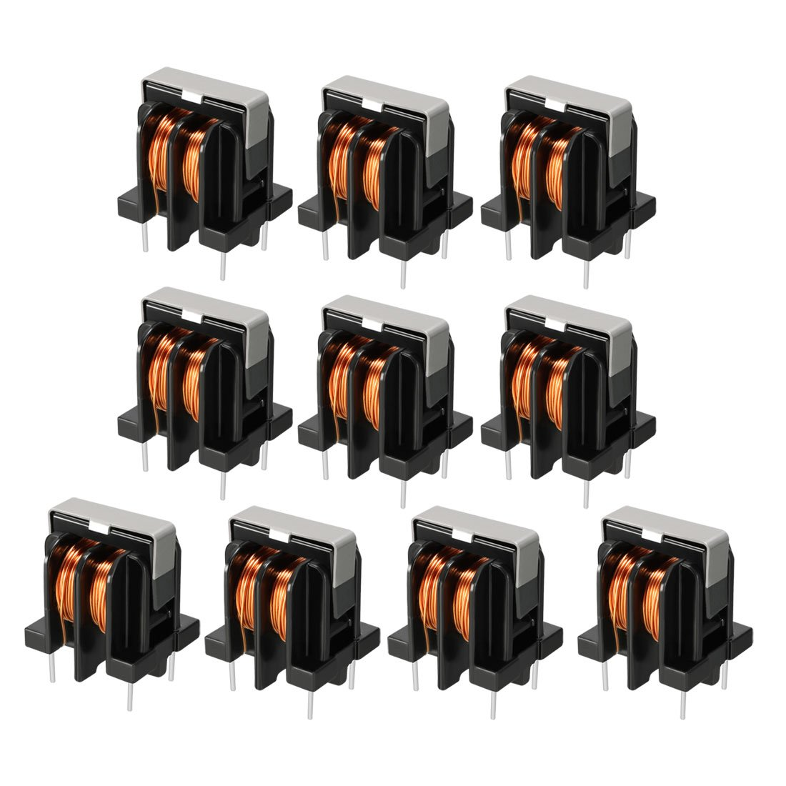 uxcell 10Pcs Toroid Magnetic Inductor Monolayer Wire Wind Wound 10mH Inductance Coil
