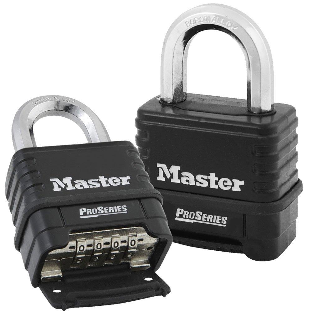 MasterLock 1178D Combination Padlock (Die Cast body)) (1, Black/Silver)