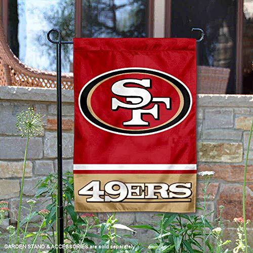 WinCraft San Francisco 49ers Double Sided Garden Flag ()