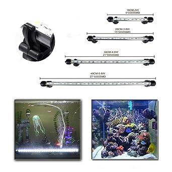 SolarNovo 18-112cm LED Aquarium-Licht Unterwasser BeleuchtungAufsatzleuchte Abdeckung Wasserdicht Lampe Stecker EU f/ür Fisch Tank mit Fernbedienung RGB Farbwechsel