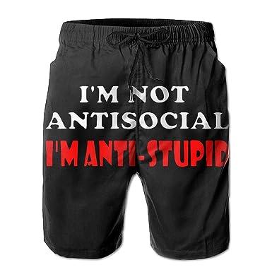 Amazon.com: 2017 New Im Not Anti Social Im Anti Stupid Men ...