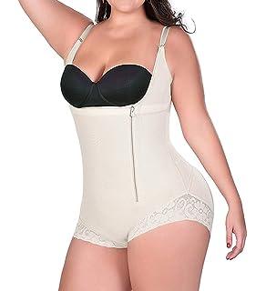 72f5068ac328 RIBIKA Body Shaper for Women Shapewear Tummy Control Underwear Bodysuits  with Zipper Black