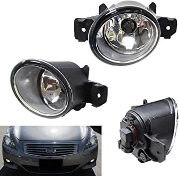 Fog Light For Nissan Altima 2008-2009 Clear Lens Fog Lamps Bumper Driving Lamps