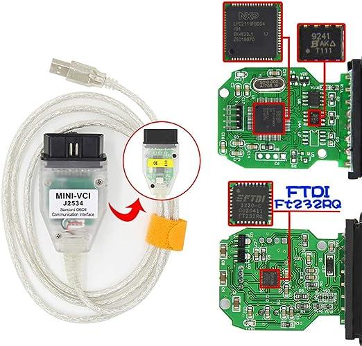 MINI VCI  USB to OBD2 16pin Single diagnostic Cable for TOYOTA TIS Techstream